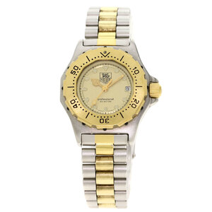TAG Heuer 935.408 Professional Watch Stainless Steel Gold Plated Ladies