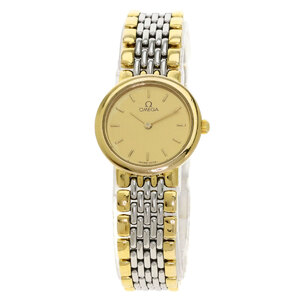 Omega Devil Watch Stainless Steel Gold Plating Ladies