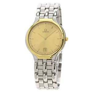 Omega Devil Symbol Watch Stainless Steel Combination Mens
