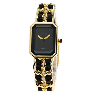Chanel H0001 Premiere M Watch Gold Plated Leather Ladies