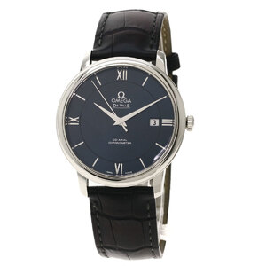 Omega 442.13.40.20.03.001 Devil Watch Stainless Steel Leather Men