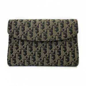 Christian Dior Clutch Bag Second Trotter Women's Men's Nylon Canvas