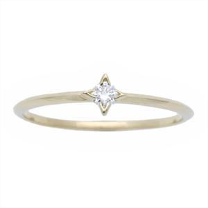 アーカー(AHKAH) シリウス K18イエローゴールド(K18YG) カジュアル ダイヤモンド 指輪・リング カラット/0.05