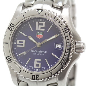 TAG HEUER men's watch professional WT1213 blue dial quartz
