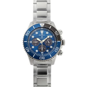 SEIKO Prospex Save the Ocean Chronograph Diver Solar SBDL059 V175-0EV0 Blue Dial Stainless Steel Watch