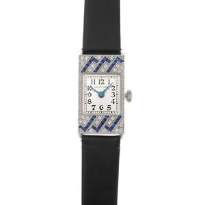 LONGINES Longines Elegante de Rectangular Diamond Manual Winding L2.160.7 Silver Dial 750 White Gold Watch