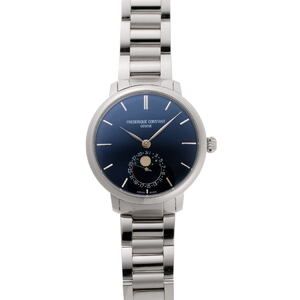 FREDERIQUE CONSTANT Slimline Moon Phase Automatic FC703N3S6B Blue Dial Stainless Steel Watch