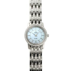 OMEGA Omega De Ville Devil Prestige Diamond Quartz 4575.74 Blue Shell Dial Stainless Steel Watch