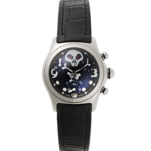 CORUM Corum Bubble Jolly Roger Limited to 1000 Chronograph Quartz 196.260.20 Black Dial Stainless Steel Watch