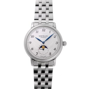 MONTBLANC Montblanc Star Legacy Moonphase Automatic 117326 Silver Dial Stainless Steel Watch