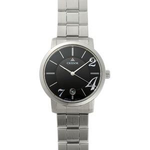 SEIKO Seiko Credor Node Automatic GCBW989 4L75-00C0 Black Dial Stainless Steel Watch