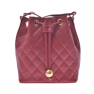 CHANEL Chanel Matrasse Shoulder Bag Gold Hardware Women's Caviar Skin