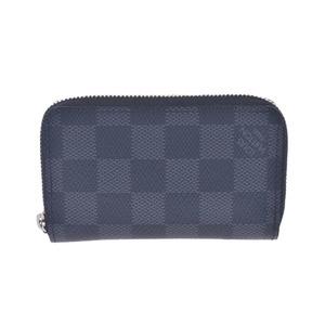 LOUIS VUITTON Louis Vuitton Damier Graffit Zippy Coin Purse Gray N63076 Men's Canvas Case