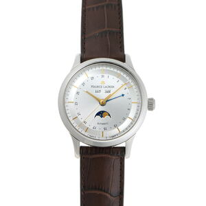 MAURICE LACROIX Maurice Lacroix Classic Triple Calendar Moon Phase Automatic LC6068-SS001-132 Silver Dial Stainless Steel Watch