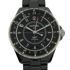 CHANEL J12 GMT Watch Men's Automatic Stainless Steel Ceramic H3102