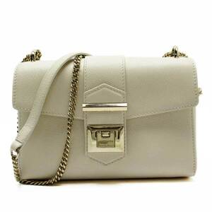 Jimmy Choo Shoulder Bag Ivory Gold Leather