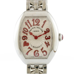 FRANCK MULLER watch Heart to Trezo 5002 S QZ C8F J RED Ladies Stainless Steel