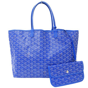 Goyard GOYARD Saint Louis PM Tote Bag Coated Canvas Blue