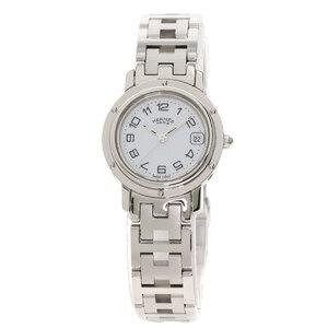 Hermes CL4.210 Clipper Watch Stainless Steel Ladies