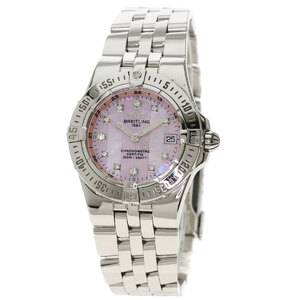 Breitling A71340 Starliner 11P Diamond Watch Stainless Steel Ladies