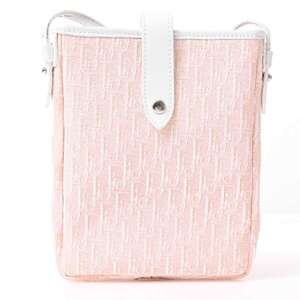 Christian Dior Trotter Pouch Pink Shoulder Bag Canvas