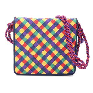 Bottega Veneta Intrecciato Multicolor Shoulder Bag Nylon Canvas