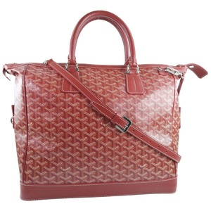 GOYARD Goyard Victoria PM 2WAY Shoulder PVC Coated Canvas Red Ladies Handbag