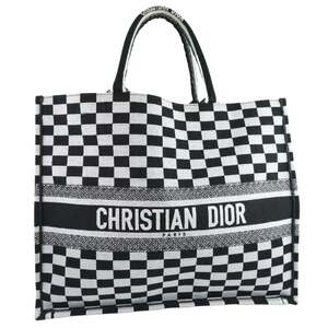 Christian Dior Dior Christian Book Tote Check M12862RIQ 911 Canvas Unisex Bag