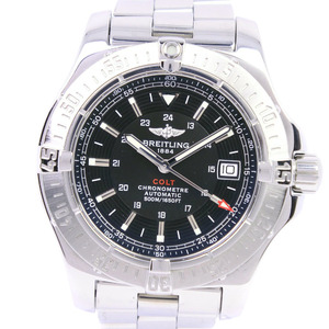BREITLING Breitling Colt A17380 stainless steel self-winding men's black dial watch