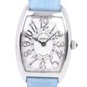 FRANCK MULLER Franck Muller Tono Carbex 1752QZREL Stainless Steel Light Blue Quartz Ladies Silver Dial Watch