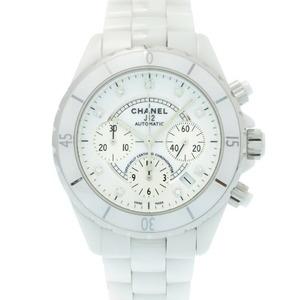 Chanel J12 41mm Chronograph 9P Diamond H2009 Automatic Watch White Ceramic