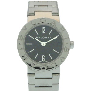 Bulgari BB23 Stainless Steel Quartz Watch Black Dial