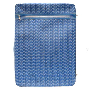 Goyard Herringbone Blue PVC Coated Canvas Leather Carry Bag