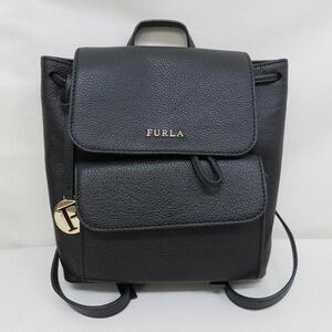 Furla Leather Black Bag Rucksack Ladies