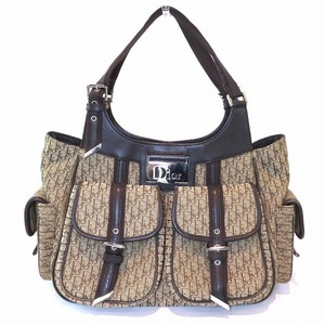 Christian Dior Dior Trotter Street Chic 13-BM-1025 Brown Bag Handbag Ladies