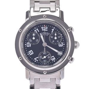 HERMES Hermes Clipper Chrono CL1.310 Boys Stainless Steel Watch Quartz Black Dial