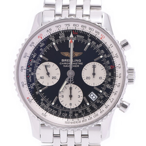 BREITLING Breitling Navitimer Date Chronograph A23322 Men's Stainless Steel Watch Automatic Black Dial