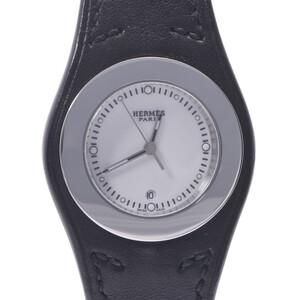 HERMES Hermes Ahne HA3.210 Ladies Stainless Steel Leather Watch Quartz White Dial