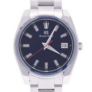 SEIKO Grand Seiko 60th Anniversary Limited to 2000 SBGP015 9F85-0AB0 Men's Ceramic Stainless Steel Watch Quartz Navy Dial