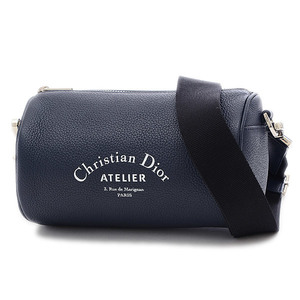 Christian Dior Dior Atelier Mini Drum Shoulder Bag Calf Leather Navy