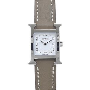 Hermes H Watch Mini Ladies White Dial Sunbeam Stainless Steel Quartz HH1.110