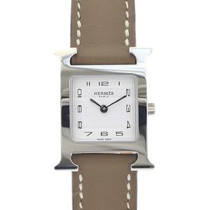 Hermes H Watch Ladies White Dial Sunbeam Stainless Steel Quartz HH1.201