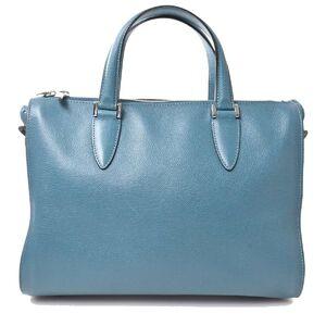 Valextra Leather 2WAY Handbag Green