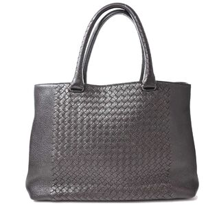 Bottega Veneta Intre Leather Tote Bag Brown
