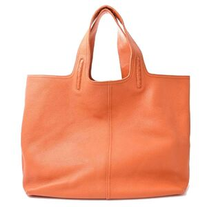 Bottega Veneta Leather Large Tote Bag Orange