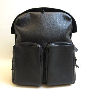Jimmy Choo Backpack Rucksack Black Lennox Men's Women's Leather