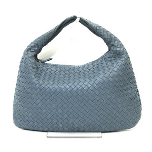 Bottega Veneta Shoulder Bag Blue Intrecciato One Semi Women's Lambskin
