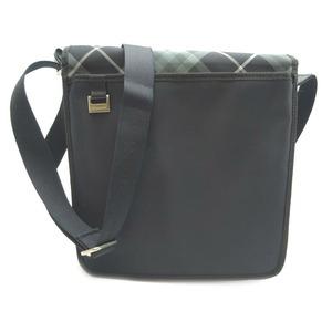 Burberry Shoulder Bag Nylon Black Check