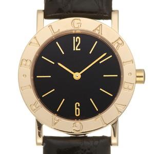 Bvlgari Women's Men's Watches BB30GL K18 Yellow Gold Black Arabian Dial