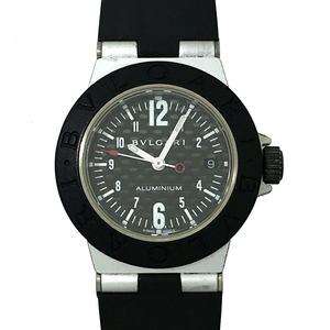 Bvlgari Aluminum Ladies Watch AL29TA Black Arabian Dial